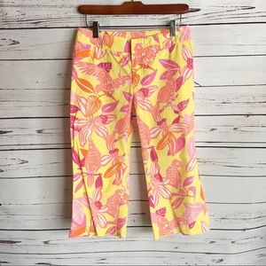 Lilly Pulitzer 2 Pacific Wing Parrot cropped pants